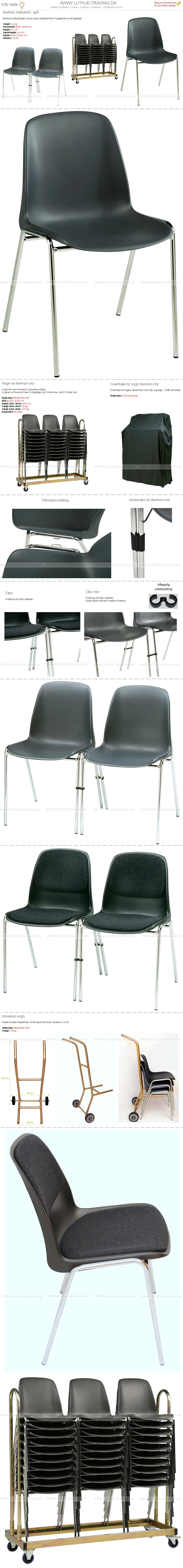 Bertram plaststole grå