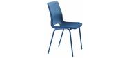 Plaststole. Ana stol blå er en billig god plaststol til kantine, forsamlingshus, festlokaler  m.m. Fabrikken yder 5 års garanti på Ana stole.