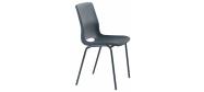 Plaststole. Ana stol grå er en billig god plaststol til kantine, forsamlingshus, festlokaler  m.m. Fabrikken yder 5 års garanti på Ana stole.
