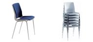 Plaststole. Ana stol med polster velegnet til konference. Fabrikken yder 5 års garanti på Ana stole.