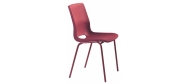 Plaststole. Ana stol rød er en billig god plaststol til kantine, forsamlingshus, festlokaler  m.m. Fabrikken yder 5 års garanti på Ana stole.