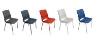 Plaststole. Ana stole plastskal og stelfarver. Fabrikken giver 5 års garnati på en Ana stol.
