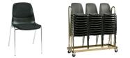 Plaststole Bertram er en billig god plaststol til kantine, forsamlingshus, festlokaler  m.m.