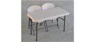 Lifetime plaststole og borde. Bordstørrelse 122 x 61 cm. Lifetime giver 10 års garanti på deres plaststole og borde.