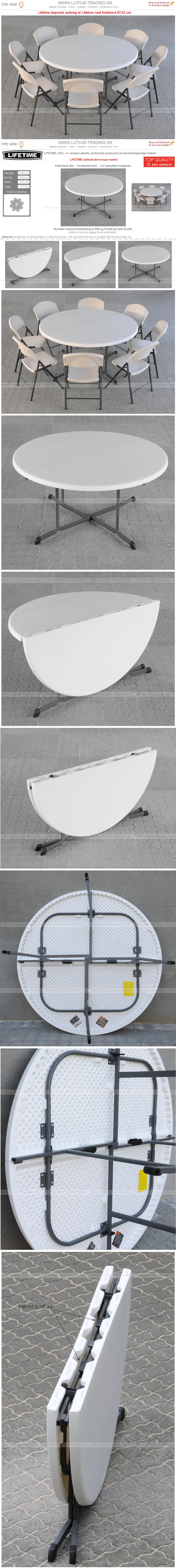 Plaststole med foldebord Ø153 cm