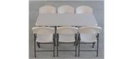 Lifetime plaststole og borde. Bordstørrelse 152 x 76 cm. Lifetime giver 10 års garanti på deres plaststole og borde.