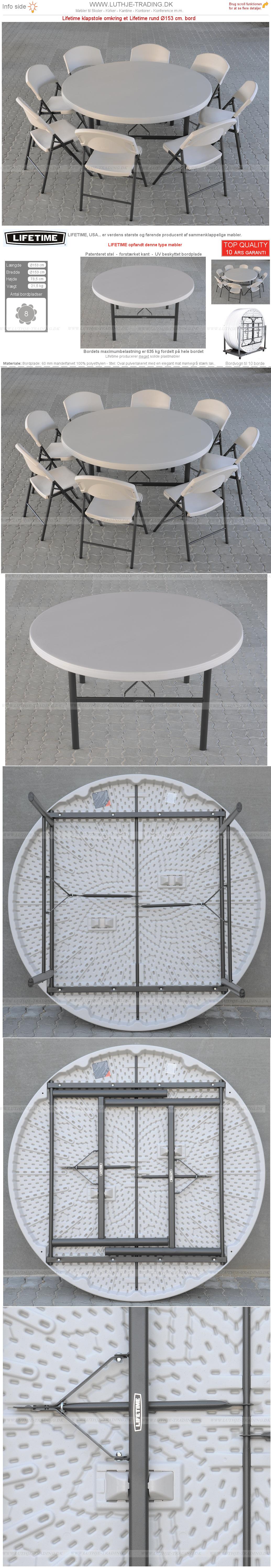 Plaststole med rund Ø153 cm bord