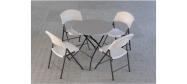 Lifetime plaststole og borde. Bordstørrelse rund Ø83 cm. Lifetime giver 10 års garanti på deres plaststole og borde.