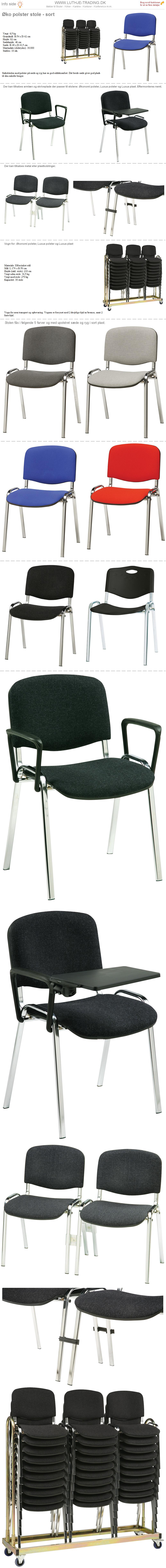 Plaststole Øko polster blå
