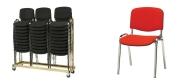 Plaststole Øko rød med polster velegnet til konference.