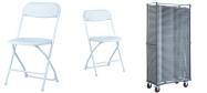 Plaststole Zown hvid er en klapstol som kan bruges inde-og udendørs.