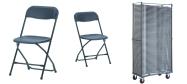 Plaststole Zown sort er en klapstol som kan bruges inde-og udendørs.